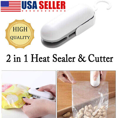 Portable Mini Heat Sealing Machine Plastic Bag 2 In1 Abs Sealercutter