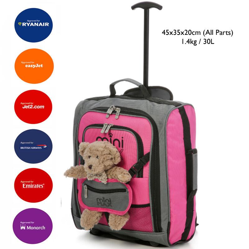 MiniMAX Bambini/bambini Bagaglio A Mano Carry On Carrello Per Valigia