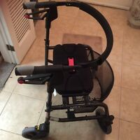 Nexus foldable walker with metal removable basket