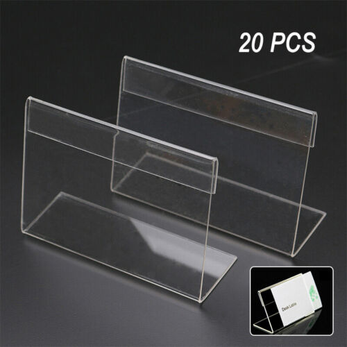 20x Aufsteller 9x6cm Ständer Preisschild Preisschildhalter Preisaufsteller Acryl