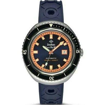 Zodiac ZO9504 Super Sea Wolf 68 Automatic Swiss Movement Rubber Strap Watch