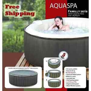 For this summer, get your Inflatable spa AquaSpa for 6 adults