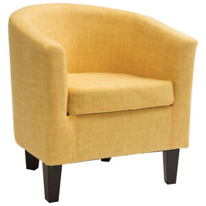 Antonio Contemporary Fabric Accent Chair - Yellow New in Box