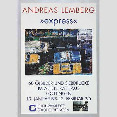 Andreas Lemberg: express - Ausstellungsplakat Göttingen 1995.
