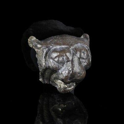 Silver Lion's Head Applique