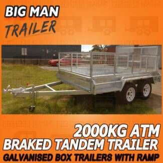 8x5 Ramp ☾ Tandem Trailers Equipped With Cage and Hot Dipped Galv