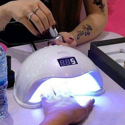 48W SUN5 24 LEDs UV Nail Lamp Light Gel Polish Cure Nail Dryer UV Lamp US Plug