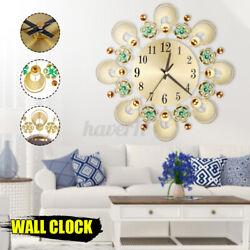 European Wall Clock Retro Flower Diamond Iron Creative For Living Room   1+2