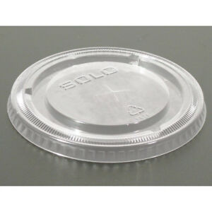 Dart Solo 662TS Clear Flat Lid With Hole (950-Pack)