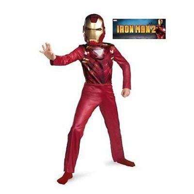 Costume Marvel Avenger IRON MAN 2 Mark VI Jumpsuit + Mask Boy Size M 7-8 NEW (Iron Man Mark 2 Costume)