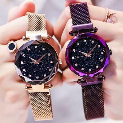 Luxury Women Watch Starry Sky Magnetic Band Quartz Wristwatch Diamond Watches CN