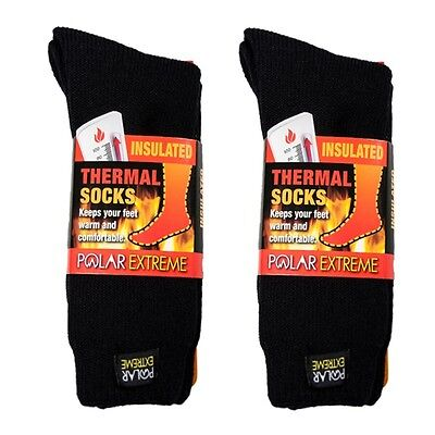 Mens Insulated Thermal Socks - Polar Extreme Insulated Thermal Socks Mens Solid Black Size 10-13 SALE 1-Pair