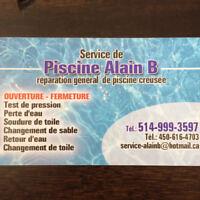 Services Piscine Creusée 514-999-3597