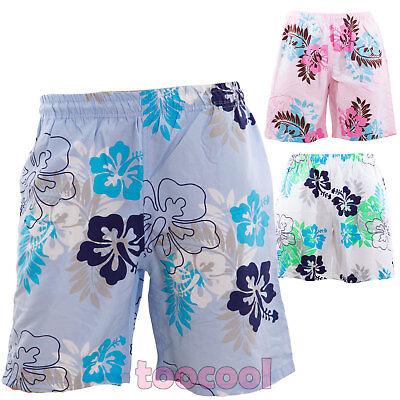 Bermuda Mann Kostüm Blumenmuster Hawaii Shorts Meer boxer swimsuit neu S-M02