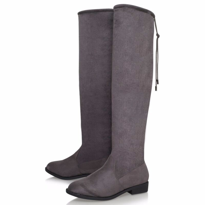 brand new in box kurt geiger over the knee grey boots