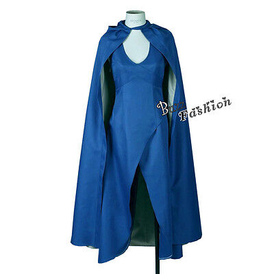 US Women Blue Outfits Anime Cosplay Costume Party