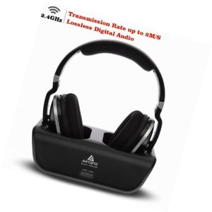 b4bfae736cc Artiste ADH300 Wireless TV Headphones 2.4GHz Digital Over-Ear Stereo ...