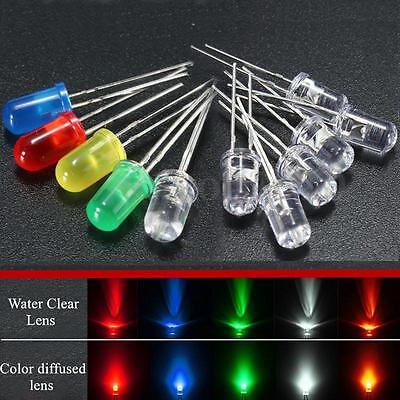 50pcs 5mm Round Redgreenblueyellowwhite Clearcolor Diffused Led Light Diode