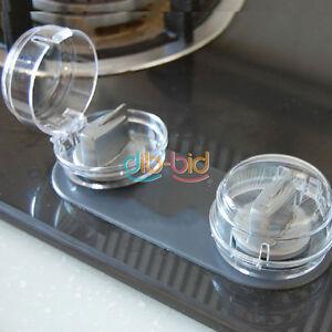 2 pcs cuisine cuisini re et four protection bouton de b b s curit des enfants ebay. Black Bedroom Furniture Sets. Home Design Ideas