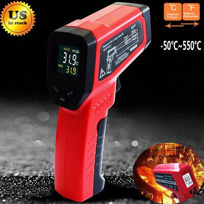 Handheld Infrared Ir Laser Thermometer Non-contact Temperature Gun Digital Meter