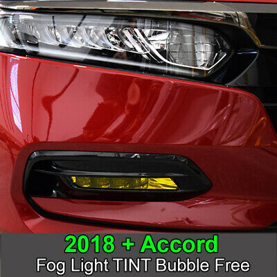 Crux Moto Yellow Fog Light Tint Overlay fits Accord 2018 - (Yellow Light Tint)