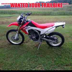 LOOKING TO BUY A TRAIL-BIKE!!!