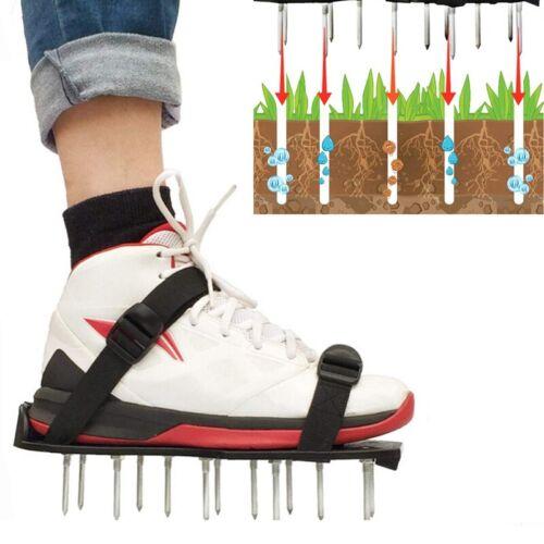 Rasenbelüfter Rasenlüfter Sandalen Vertikutierer Nagelschuhe Rasen Garten NEU