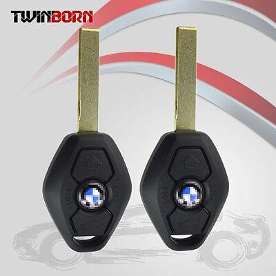 2X Replacement Uncut Keyless Entry Remote Key Car Fob Clicker EWS Fit BMW 315MHZ