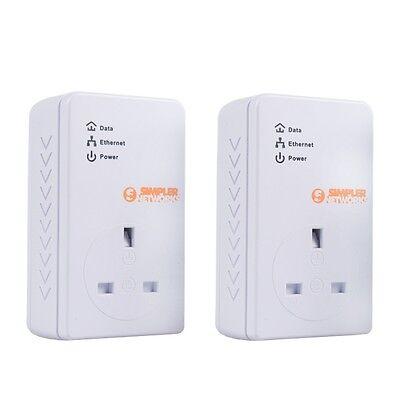 New BT Universal Powerline Network Internet Adapter HomePlug Passthrough KIT 2pk