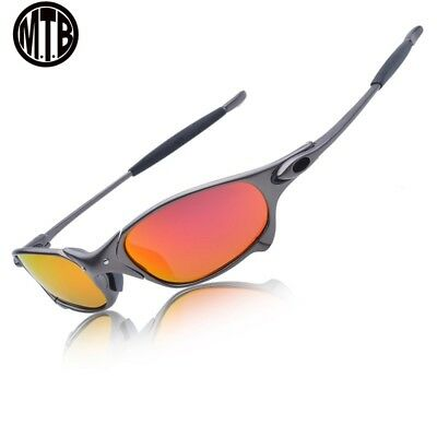 - Men Polarized Cycling Sunglasses Alloy Frame Glasses 100% UV400 Bike Goggles 3-4
