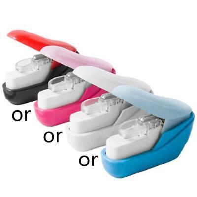 Color Stapleless Stapler Book Paper Stapling Stapler Mini Portable No Staples