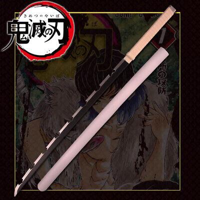 "39"" Kimetsu Yaiba Demon Slayer Inosuke Hashibira Anime Sword Blade Cosplay Prop"