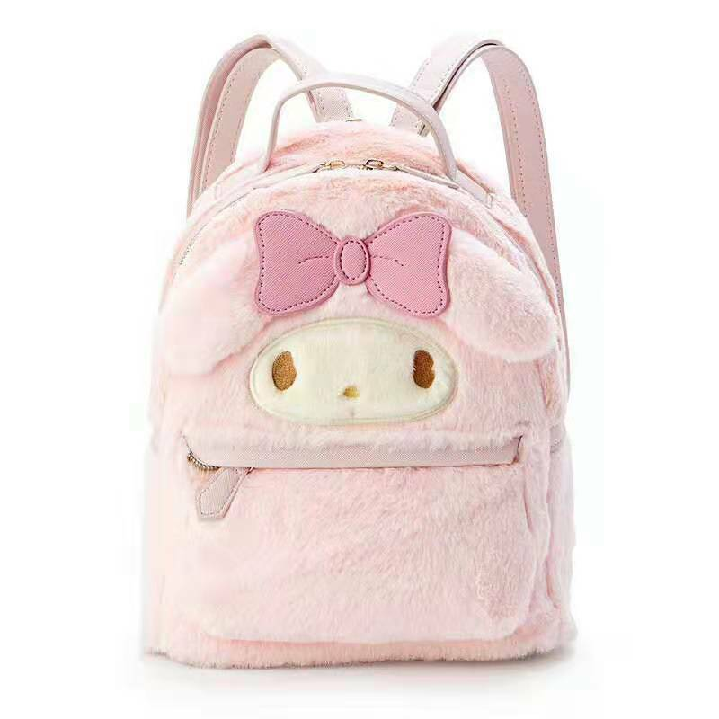 My Melody Plush Bags Anime Cinnamoroll Soft Kids Girls Gifts Knapsack Backpack