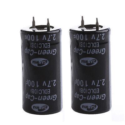 2pcs Super Capacitor 2.7v 100f Ultra Capacitor Farad