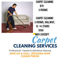 MILTON CARPET CLEANING SPECIAL 3 ROOMS $79!!
