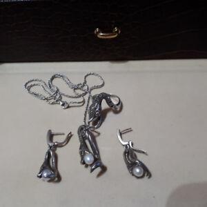 Ensemble en  argent 925 les  serpents /Snakes set of silver 925