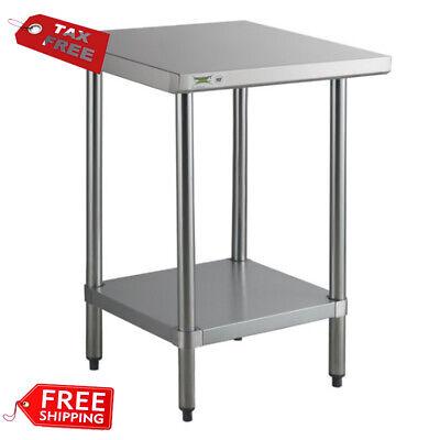 Stainless Steel Work Prep Table 24 X 24 Adjustable Undershelf Restaurant