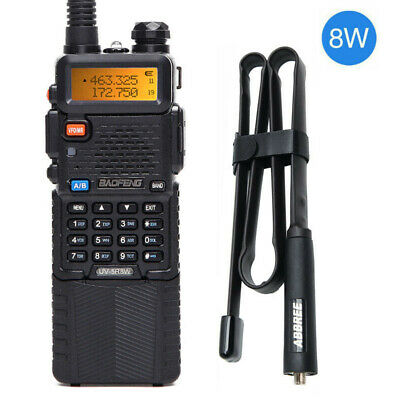 Baofeng UV-5R 8W 3800mAh Dual Band U/VHF Two Way Radio & 42.5'' Tactical Antenna