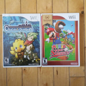 Wii Games (Mario and Final Fantasy)