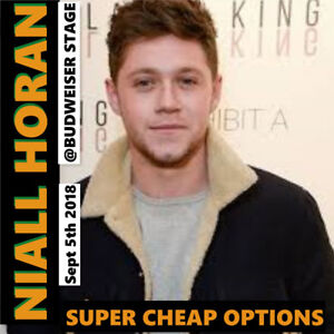 NIALL HORAN @BUDWEISER STAGE –SUPER CHEAP OPTIONS- GREAT TICKETS