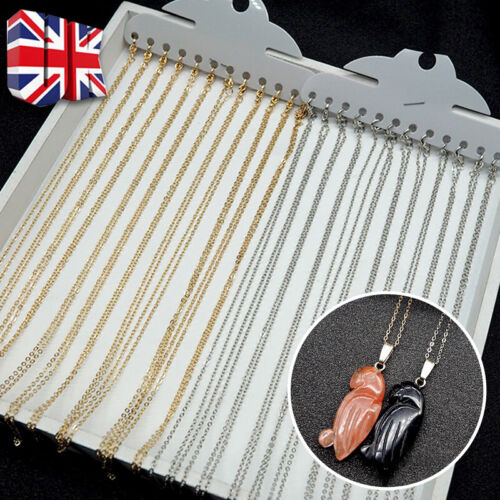 Jewellery - 12Pcs 5M Cable Plated Necklace Chain Lobster Clasps Jewellery Making Silver Gold