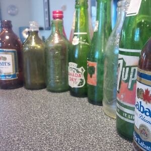 Old beverage Bottles