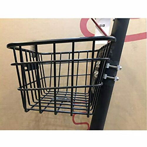 New 1Pc Durable Hanging Basket Front Handlebar Basket for Cycling Bike Black