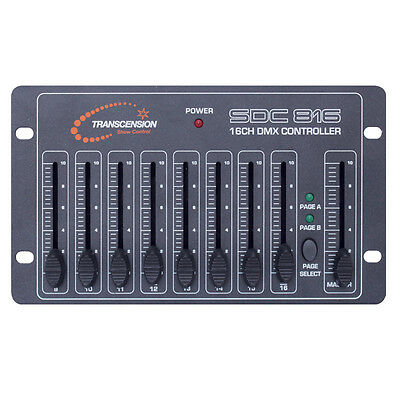 Transcension SDC 816 DMX Controller 16 channel Simple Basic Lighting Stage Disco