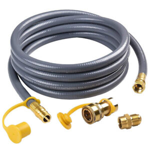 SHINESTAR 12Feet 1/2-inch ID Natural Gas Hose with Quick Conne
