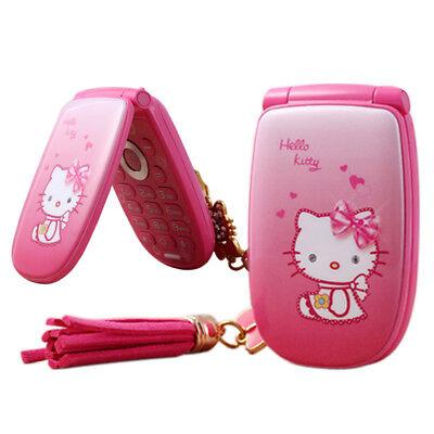 Unlocked Hello Kitty Flip Cute Small Mini Mobile Phone Best For Kids Girls (Best Smartphone For Child)