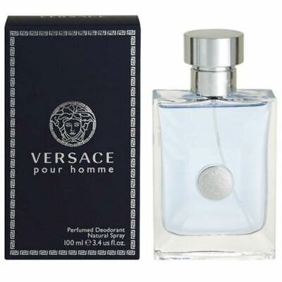 Versace Pour Homme for Men Perfumed Deodorant Spray 3.4 oz New in Box