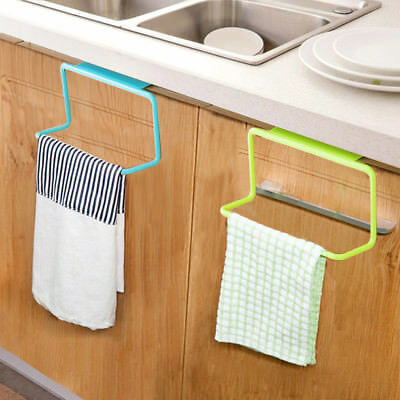 Over Door Tea Towel Rack Bar Hanging Holder Rail Organizer Bathroom Cabinet New