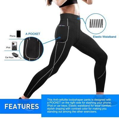 Gotoly Women Neoprene Sauna Pants Weight Loss Slim Training High Waist Tight (Neoprene Tights)
