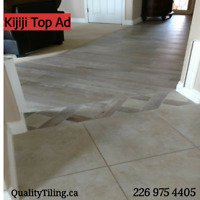 Experienced tile installation in Windsor ON